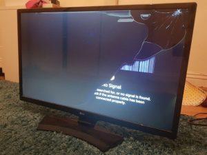 صفحه شکسته تلویزیون
