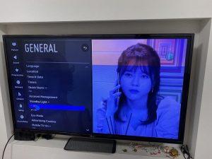 آبی شدن تصویر تلویزیون ال جی