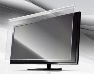 صفحه شکسته LED تلویزیون