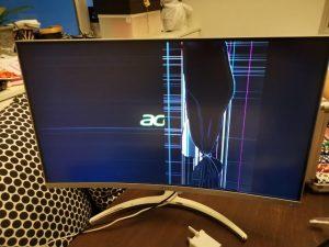 تعمیر صفحه شکسته تلویزیون